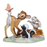 Bambi, Thumper, and Flower Figurine by Precious Moments | Disney Store