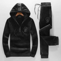 ONETOW Boys & Men Versace Fashion Top Sweater Pullover Hoodie Pants Trousers Set Two-Piece