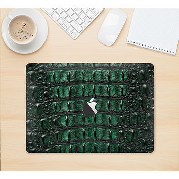 "The Vivid Green Crocodile Skin Skin Kit for the 12"" Apple MacBook"