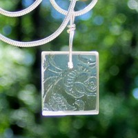 Clear Depression Glass Necklace