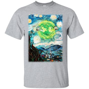 Super Rick And Morty Starry Night Shirt G200 Gildan Ultra Cotton T-Shirt