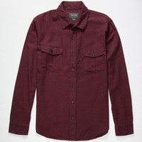 Valor Paramount Mens Flannel Shirt Burgundy  In Sizes