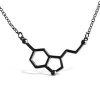 Serotonin Molecule Necklace for Science Lovers