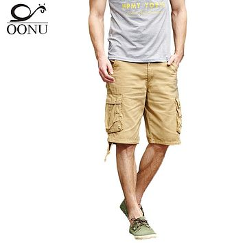 OONU 2017 Summer Men's Army camouflage Work Casual bermuda cargo Men Shorts Fashion Joggers Overall military Trousers Short 261
