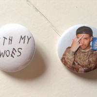 Drake Pinback Button Set (31mm)