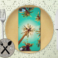 Palm Trees California Tumblr Cute Summer Custom Rubber Case iPod 5th Generation and Plastic Case For The iPod 4th Generation