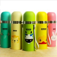 Vacuum Cup stainless steel Belly Cup Cartoon design 500ml Hot Thermos Mug Insulated Tumbler Travel Office Winter Cups Kids Gift