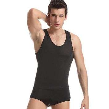 Sexy Mens Bodysuit Onesuit Lingerie Underwear Shorts Leotard Wrestling Singlet Body wear fitness bodybuilding sleepwear Black