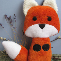 Orange Fox,  Eco friendly Plush Stuffed Animal Toy