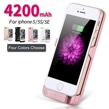 For iPhone se 4200mAh Battery Charger Case Extended Power Bank C d3bef5f470