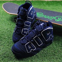 DCCKGV7 Best Online Sale Nike Air More Uptempo QS  Sport Baskerball Shoes Dark Blue Sneaker 921948-400