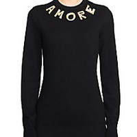 Dolce & Gabbana - Embellished Amore Cashmere Sweater - Saks Fifth Avenue Mobile