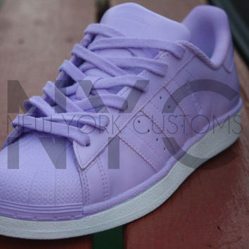 Lilac Purple Adidas Originals Superstar Two Tone Custom