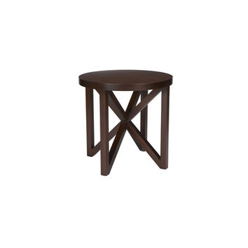Allan Copley Designs Snowmass Round End Table in Espresso