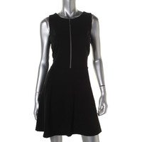 MICHAEL Michael Kors Womens Petites Ponte Sleeveless Cocktail Dress