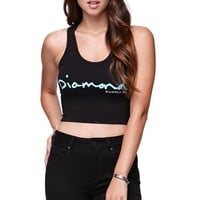 Diamond Supply Co Logo Cropped Fitted Tank - Womens Tee - Black