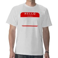 hellomynameis.8a t-shirts from Zazzle.com
