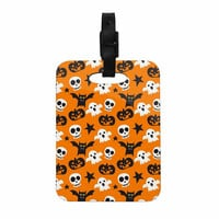 "KESS Original ""Spooktacular"" Halloween Pattern Decorative Luggage Tag"