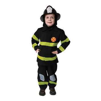 Deluxe Fire Fighter Dress Up Costume Set - Toddler T4