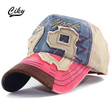 PEAPCI7 Fashion Cotton Casual Adult Baseball Cap Boy Gorras Letter Embroidery Patchwork Snapback Cap Sport Outdoor Sun Hat  TH-053