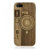 Hand Carved Camera Walnut iPhone 5 Case -M9: Cell Phones & Accessories
