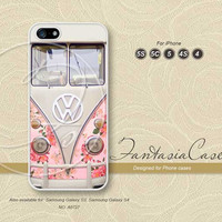 Rose, Floral, VW mini bus, iPhone 5 case, iPhone 5C Case, iPhone 5S case, Phone cases, iPhone 4 Case, iPhone 4S Case, iPhone case, FC-0727