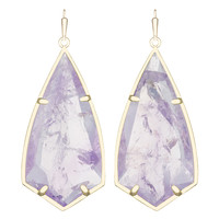 Kendra Scott Carla Drop Earringings in Gold with Amethyst
