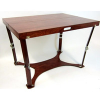 Spiderlegs CP3042-M Hand Crafted & Custom Finished Picnic Folding Table in Mahogany