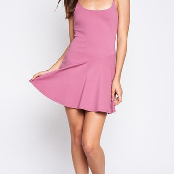 On The Ice Sleeveless Spaghetti Strap Scoop Neck Skater Circle A Line Flare Casual Mini Dress