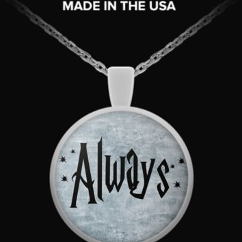 """""""Always"""" Harry Potter Book Page Pendant Necklace alwaysnecklace"""