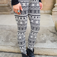 Keeping You Warm Geo Print Leggings