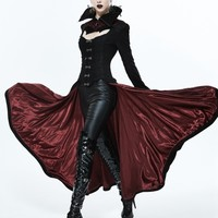 Black and Red Gothic Dark Vampire Queen Style Jacket for Women - Devilnight.co.uk