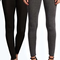 Rae Two Pack Basic Jersey Viscose Leggings