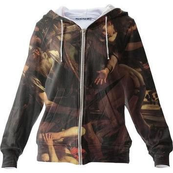 The Conversion Of Saint Paul Zip Up Hoodie All Over Print