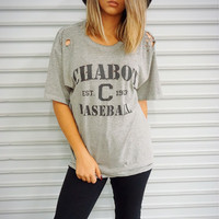 """Chabot Baseball"" Vintage Distressed Tee"