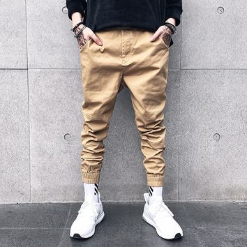 Mens Joggers Cotton Harem Pants