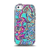 The Bright WaterColor Floral Apple iPhone 5c Otterbox Symmetry Case Skin Set
