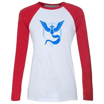 Team Mystic - Red & White Long Sleeve Tee