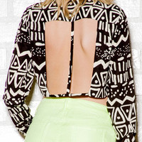 Tribal Inspired Cropped Shirt