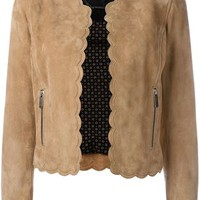 Barbara Bui Scalloped Trim Jacket - Jean Pierre Bua - Farfetch.com