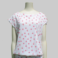Boatneck T-shirt in floral print - sizes XS-6X