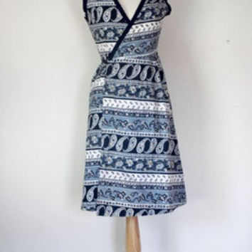 60s Paisley Wraparound Dress