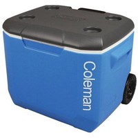 Coleman 60 Quart Portable Large Sleek Ice Chest Cooler w Wheels, Wheeled Rolling Cooler
