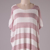 Weekend Casual Knit Top - Pink