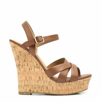 Strap-tastic Faux Cork Wedges