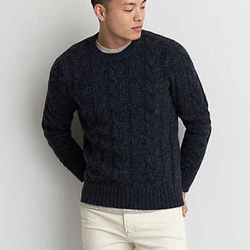 AEO Cable Crew Sweater, Indigo