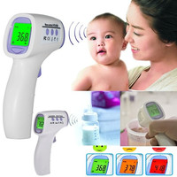 Digital Non-contact Infrared Forehead Body Thermometer with Three-color Backlight AP = 1652964164