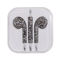 Micase Black Lace Print Earbuds