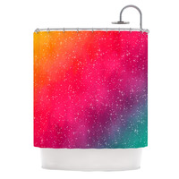 "Fotios Pavlopoulos ""Colorful Constellation"" Pink Glam Shower Curtain"