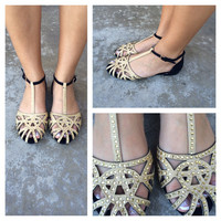 Crystal Closed Toe Flats